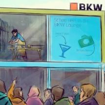 BKW St Moritz Außenansicht Scribble