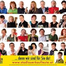 Plakatkampagne Die Stadlauer Kaufleute